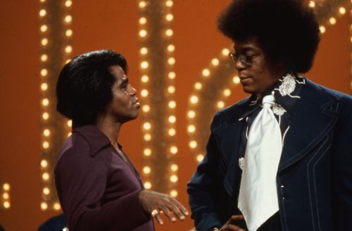 James Brown..one of the few performers on Soul Train to play live instead of lip-synching