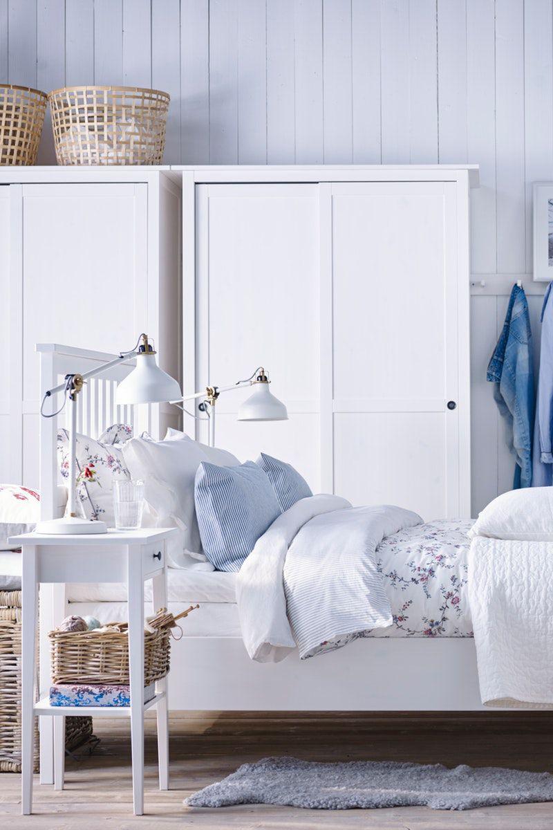 Hemnes Bettgestell Weiss Gebeizt Ikea Deutschland Ikea Zuhause Rustikales Schlafzimmer Und Schlafzimmer