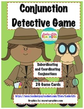 Conjunction Detective Game with Printable-BEST SELLER