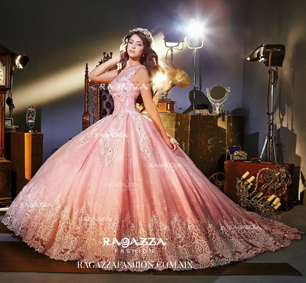 Pink Illusion Quinceanera Dress by Ragazza Fashion Style V73-373 ...