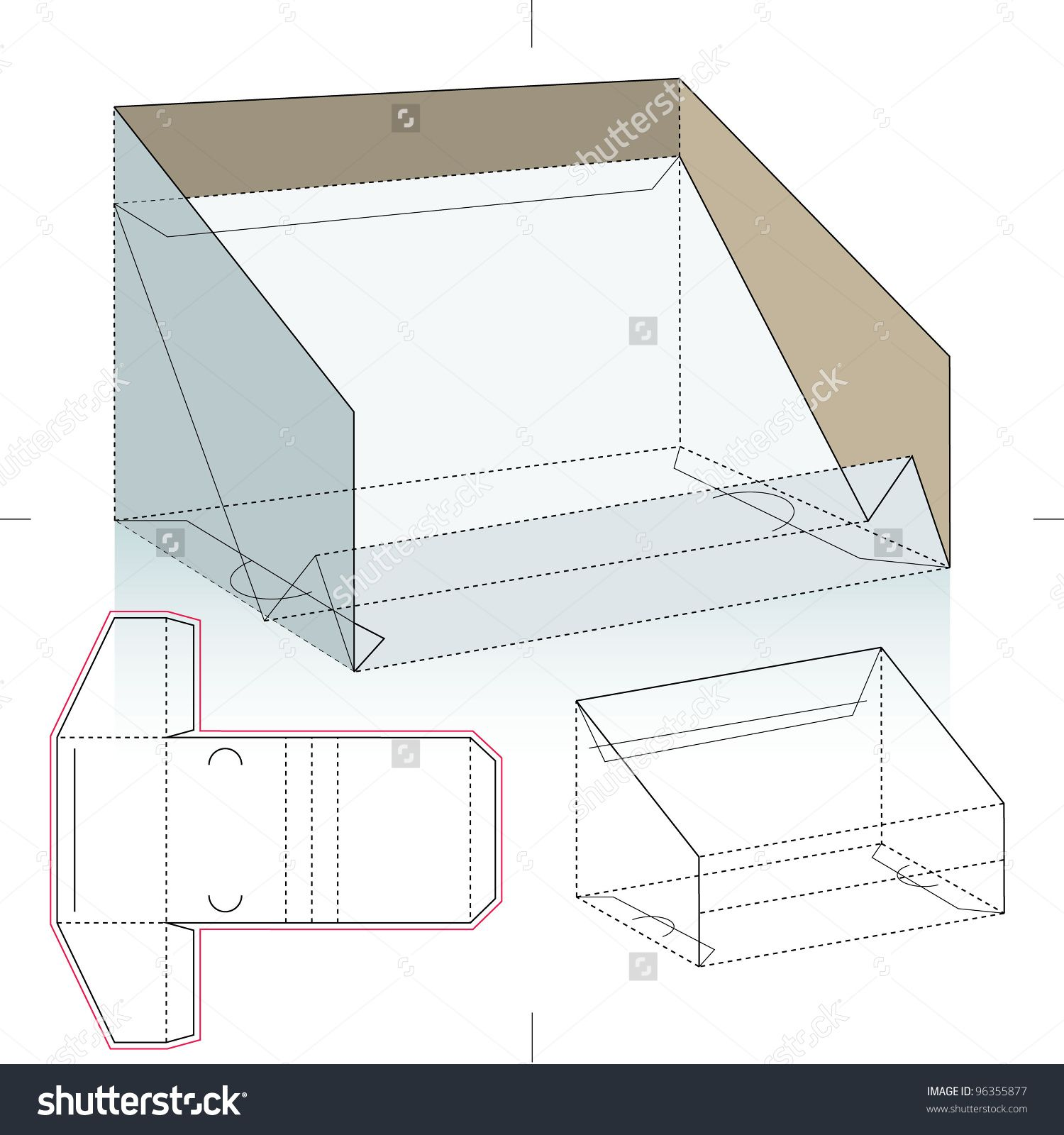business card display box stock vector illustration