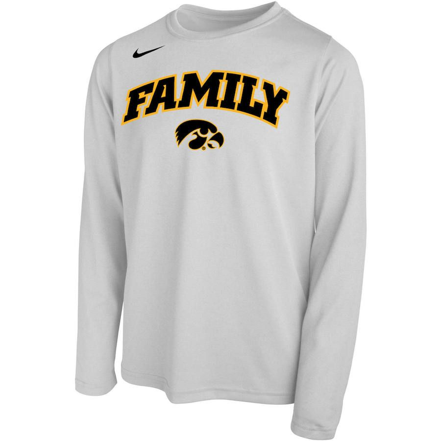 Iowa hawkeyes youth nike legend bench long sleeve tshirt