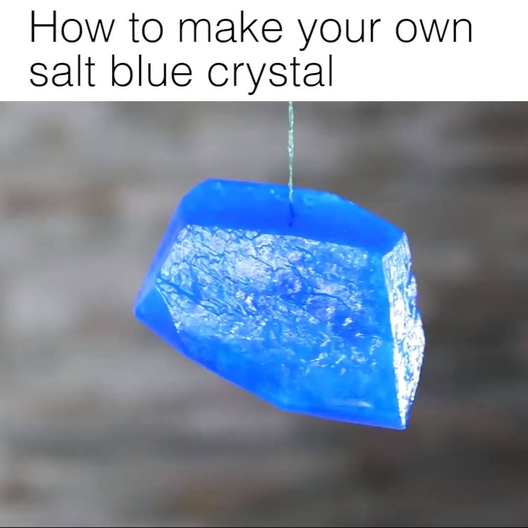 How To Make Your Own Salt Blue Crystal Blue Crystals Diy And Crafts Make It Yourself
