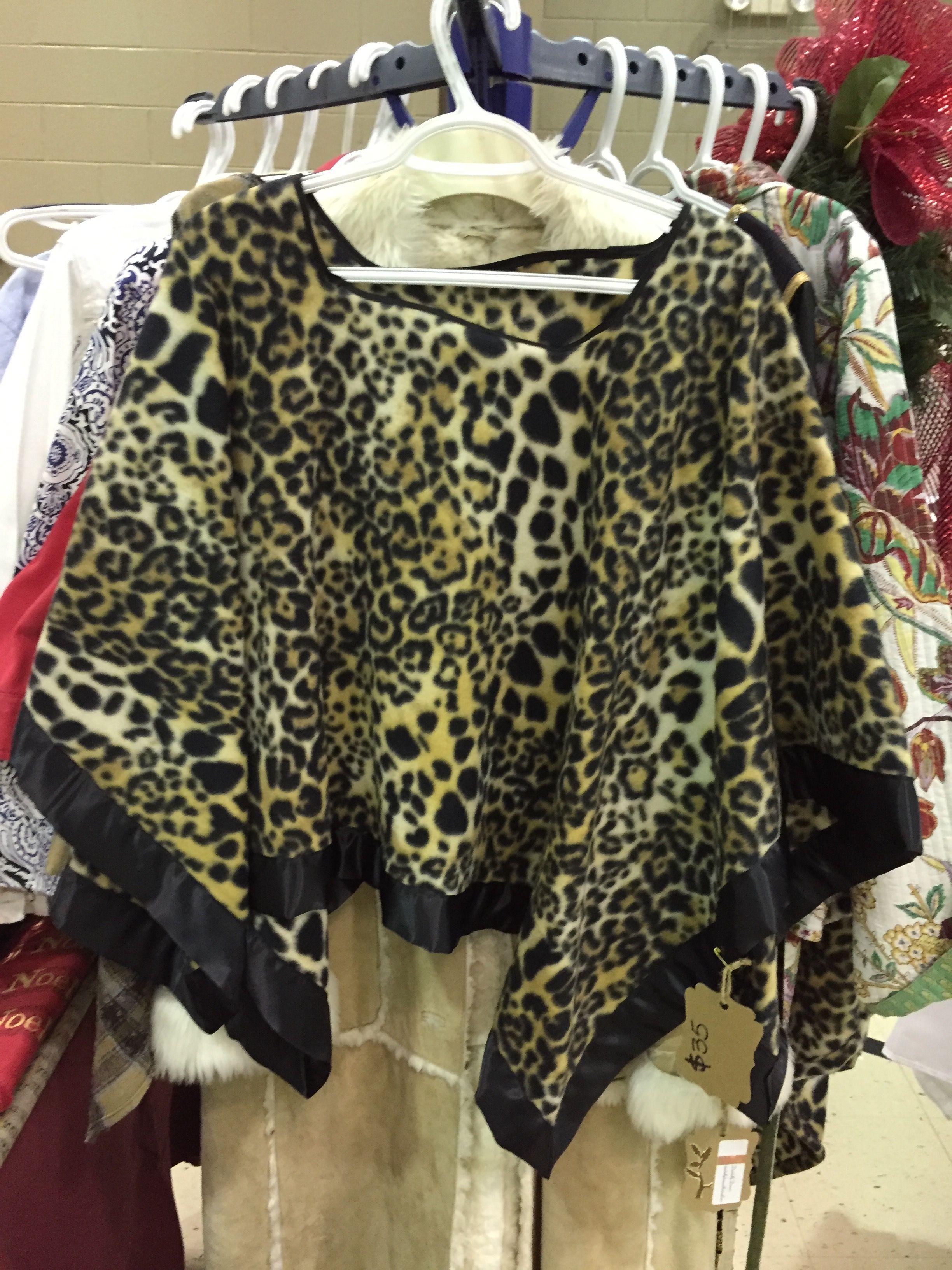 Animal print fleece with satin blanket binding to finish this cape i