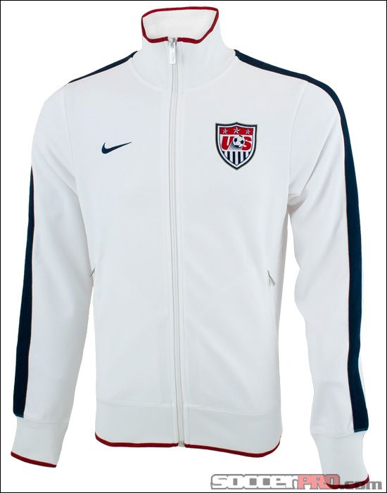32c487104a0 Nike USA Authentic N98 Jacket - White... 55.24 Us Soccer