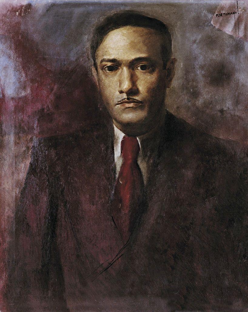 Retrato de Jorge de Lima by Candido Portinari (Brazilian Candido Portinari, Jorge E Mateus, Pintoras Brasileiras, Novembro, Poeta, Janeiro, Lima, Painting, Retratos