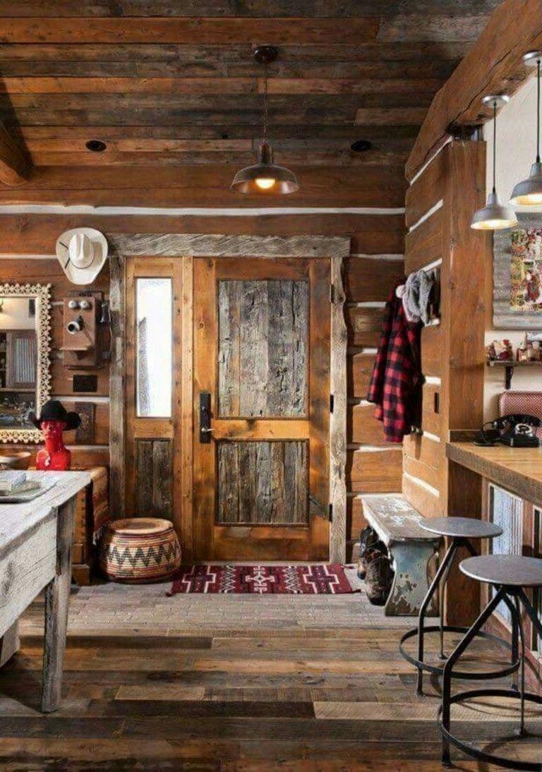 50+ Wonderful Cabin Style Interior Design Ideas