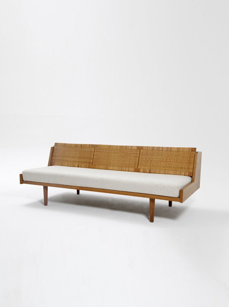 Image result for Oak  Rattan Daybed by Hans Wegner sofa