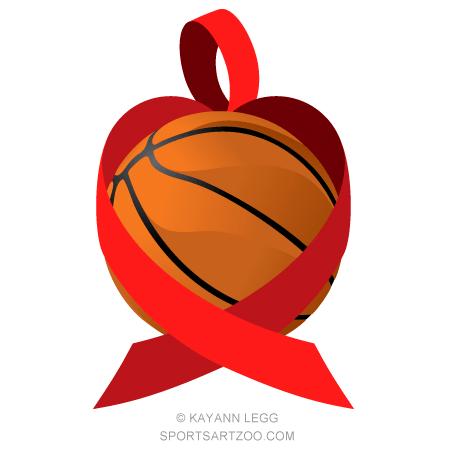 Basketball Heart Health Awareness Design Sportsartzoo Heart Health Awareness Awareness Ribbons Awareness