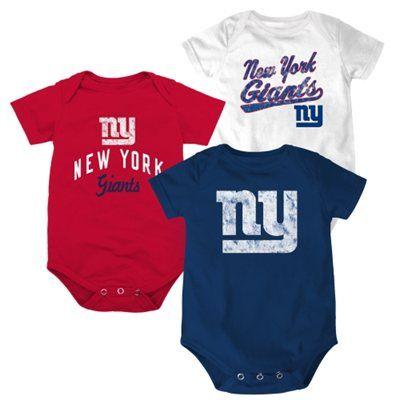 bb7f69a0ce4 New York Giants Newborn 3-Pack Creeper Set - Red/White/Royal Blue ...
