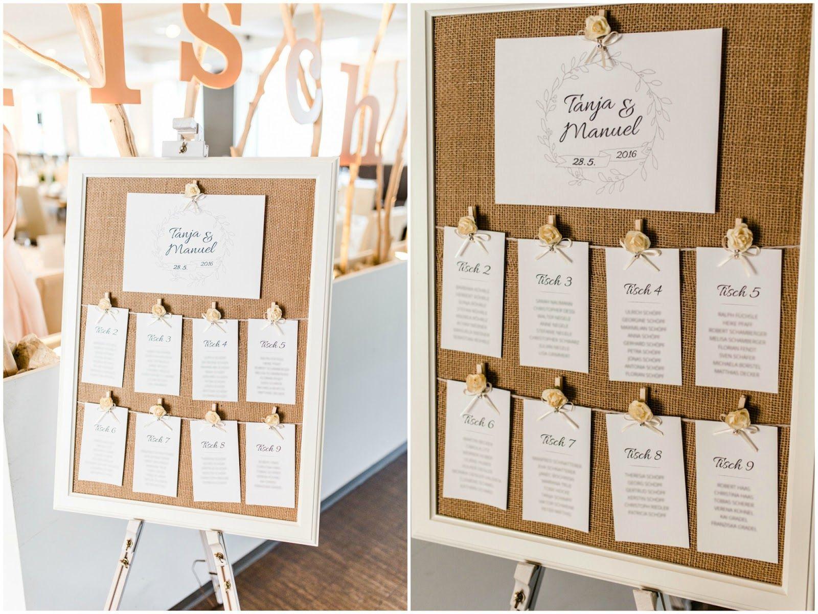 Weddingstationary tablecards seatingplan Sitzplatztafel