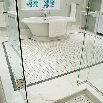 Waterworks Basketweave Mosaic Tile Design Decor Photos