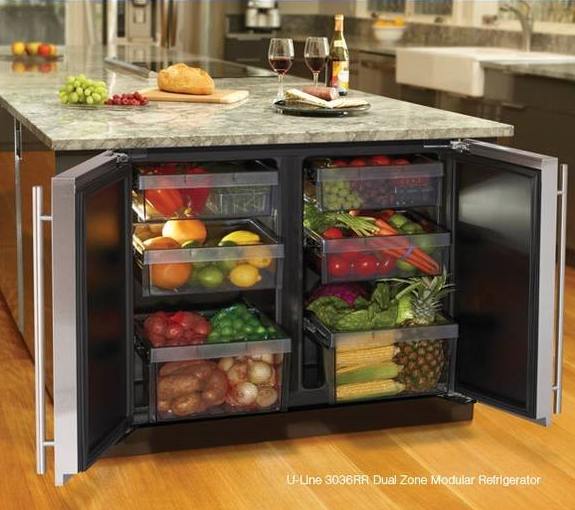 Kitchen Island Refrigerator: The Most Innovatively Smart Kitchen Interior Designs