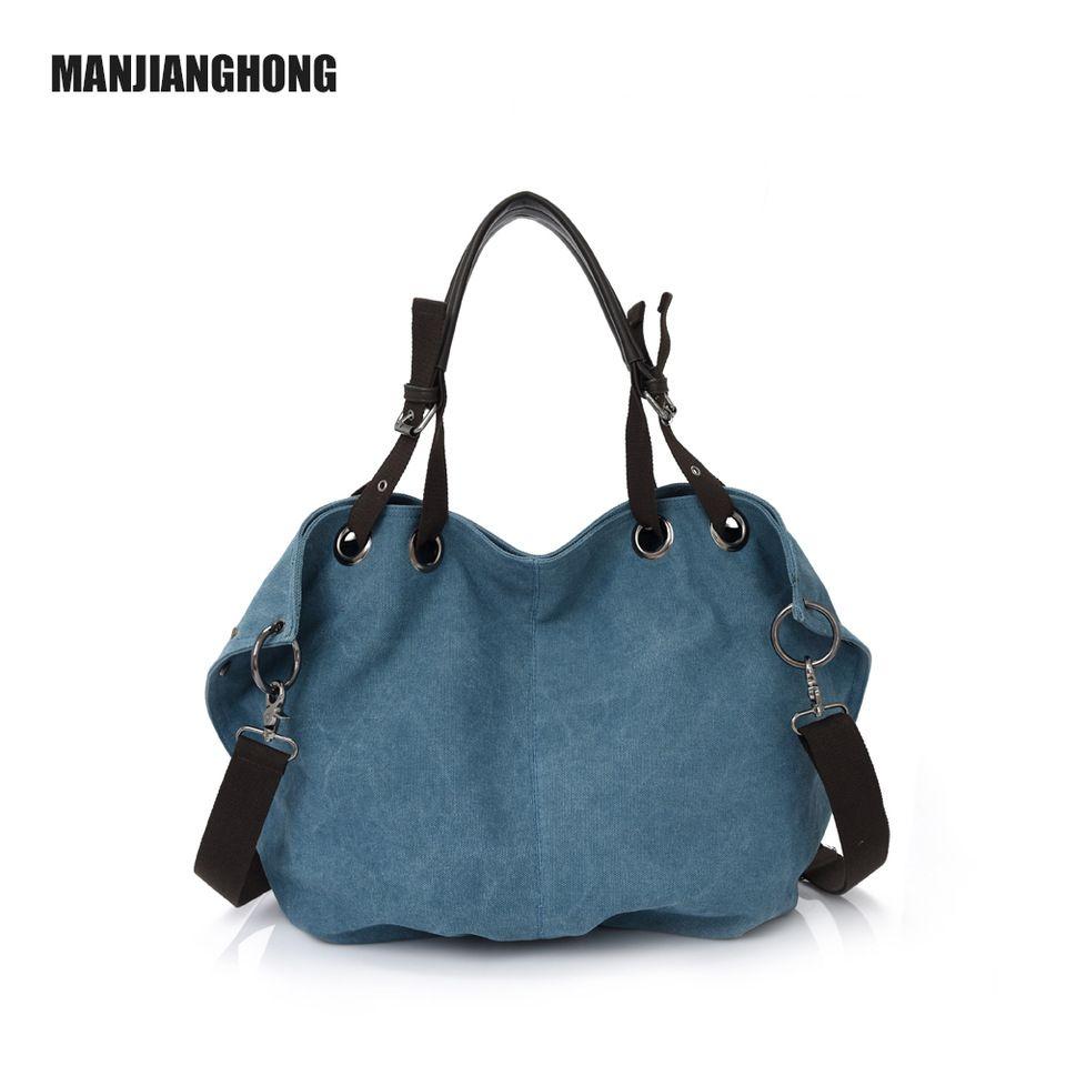 b5094a005bb 2016 New High Quality Women Handbags Bolsas Femininas Ladies Shoulder Bag  Big Capacity Canvas Bag Female Bag 1347