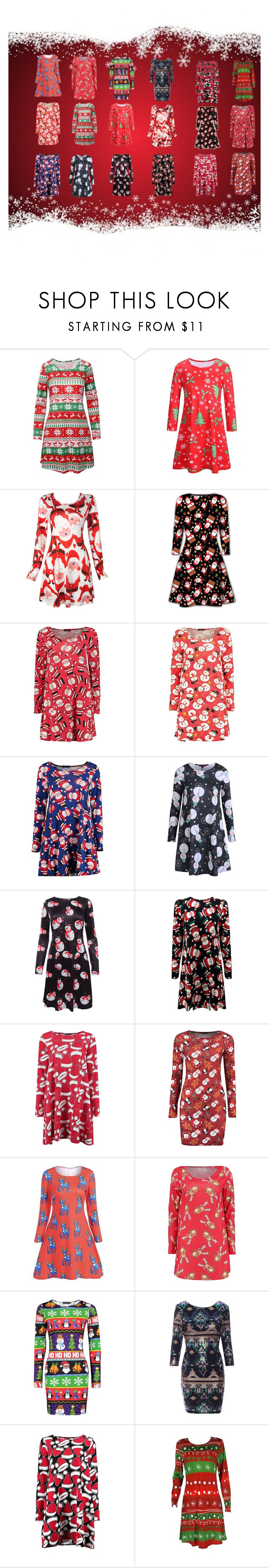 """christmas dresses"" by abuffaloe on Polyvore featuring Boohoo"