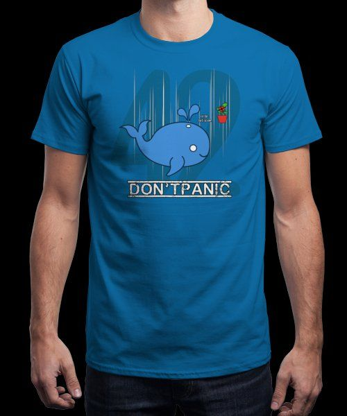 """""""Don't Panic"""" is today's £9/€11/$12 tee for 24 hours only on Pin this for… 