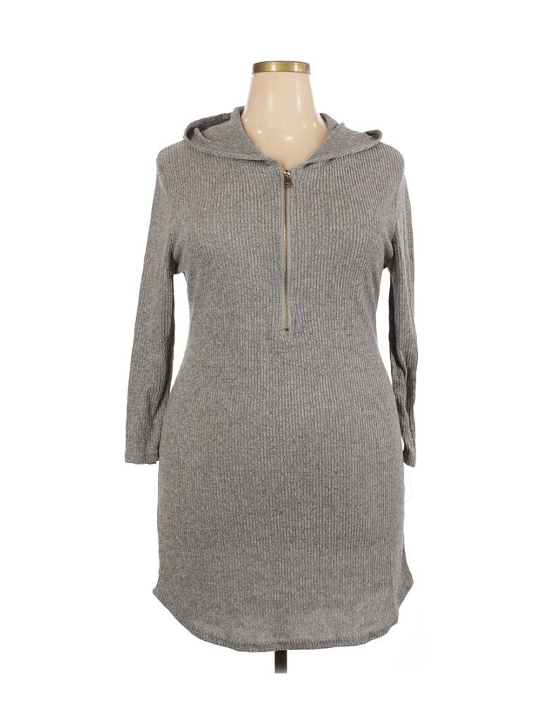 J For Justify Gray Casual Dress Size 2x Plus 55 Off Casual Dress Grey Pullover Hoodie Grey Pullover [ 1024 x 768 Pixel ]