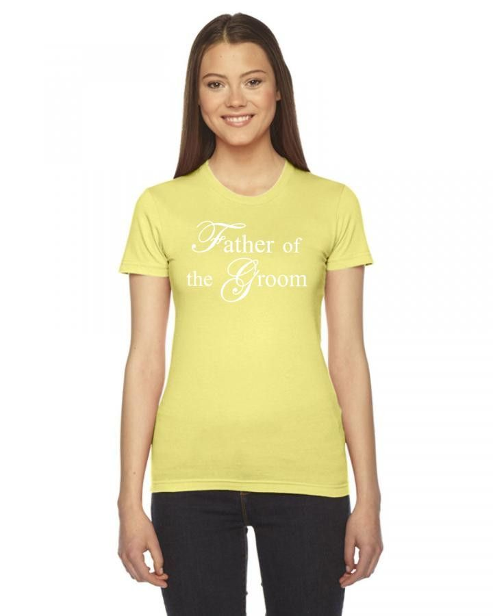father of the groom white Ladies Fitted T-Shirt