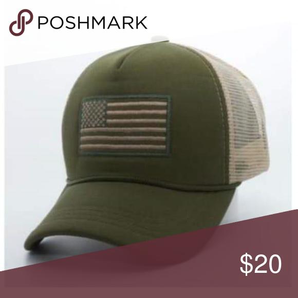 f4c506f20b7de Patriotic Curved Army Green Khaki Baseball hat Patriotic Curved Army Green  Khaki Baseball Adjustable Hat Cap