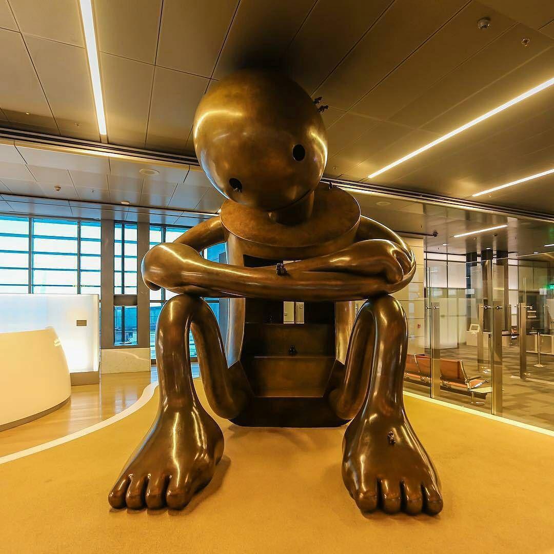 Hamad International Airport #Doha #Qatar The sculptures took ...
