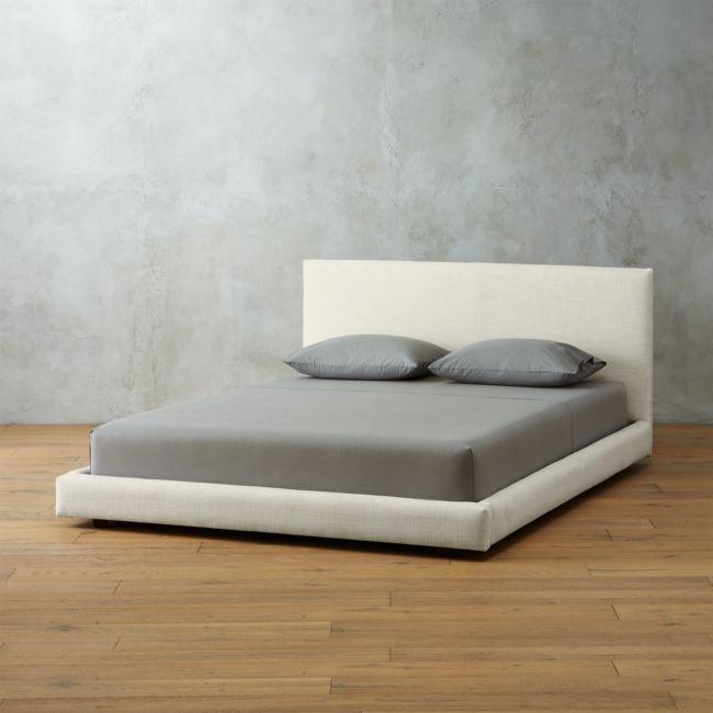Facade White Upholstered King Bed Reviews White Upholstered