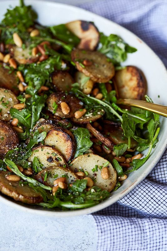 Grilled Potato & Arugula Salad with Fresh Herbs | Paleo Recipes