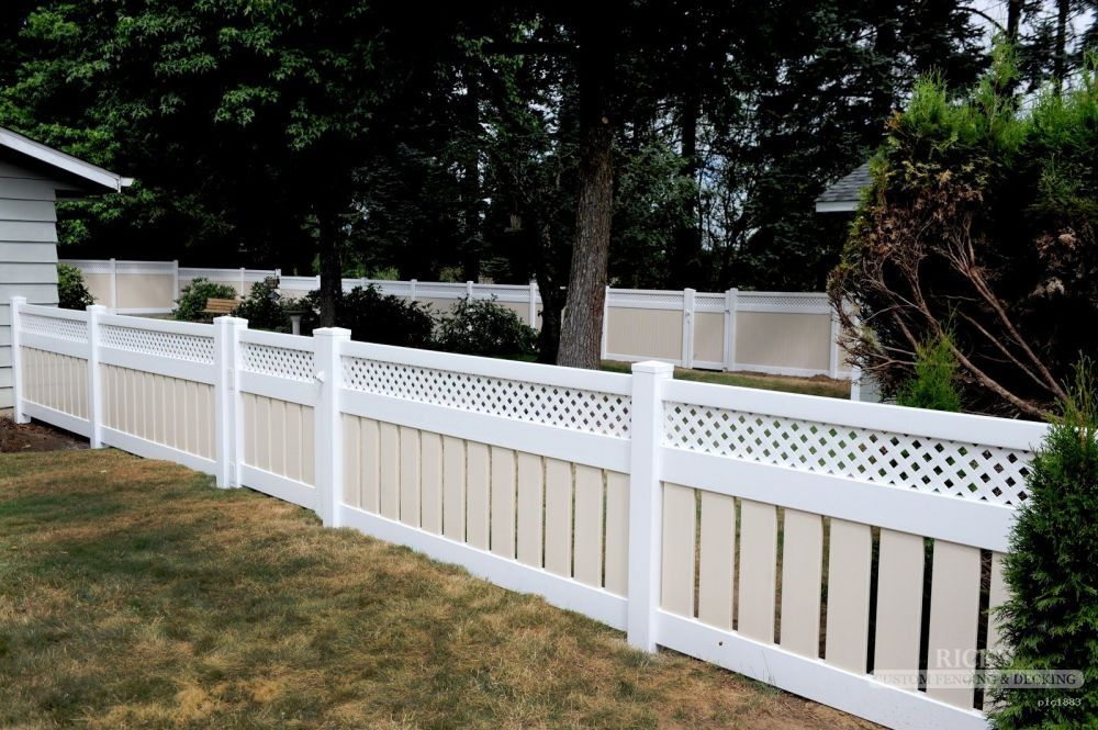 Short Vinyl Semi Private With Lattice Topper Fences