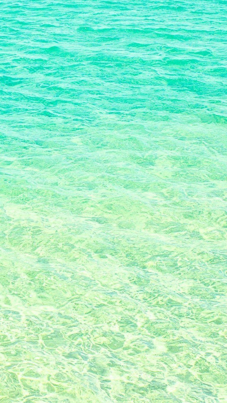 Aqua Green Blue Turquoise Sea Ocean Iphone Wallpaper Phone