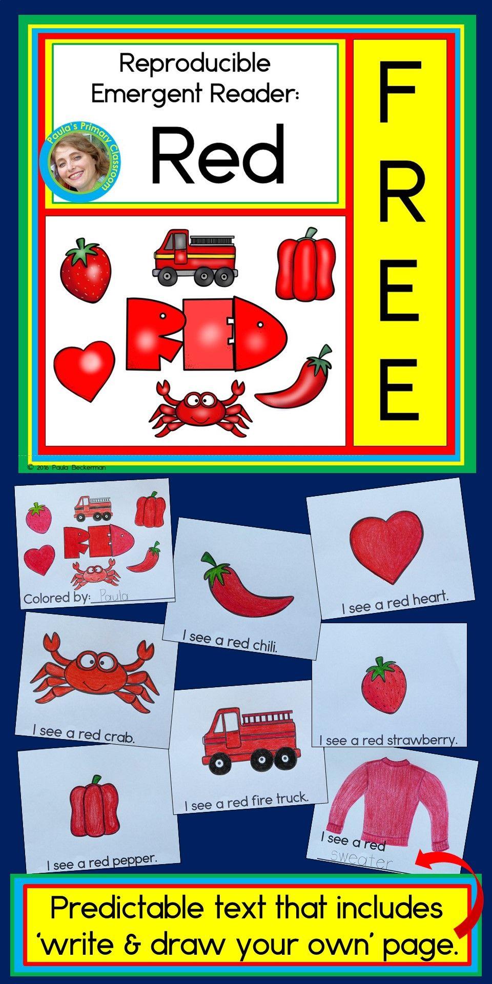 Emergent reader: red | Teaching Ideas/Teaching Resources | Pinterest