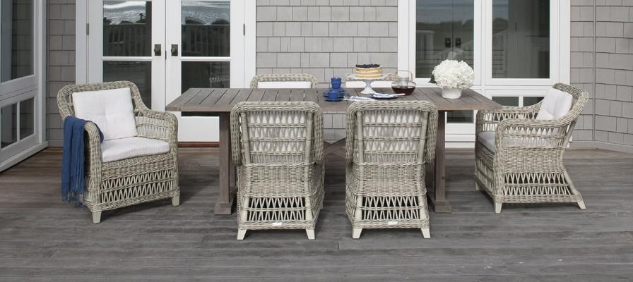 arbor outdoor dining furniture available at cabana home, santa
