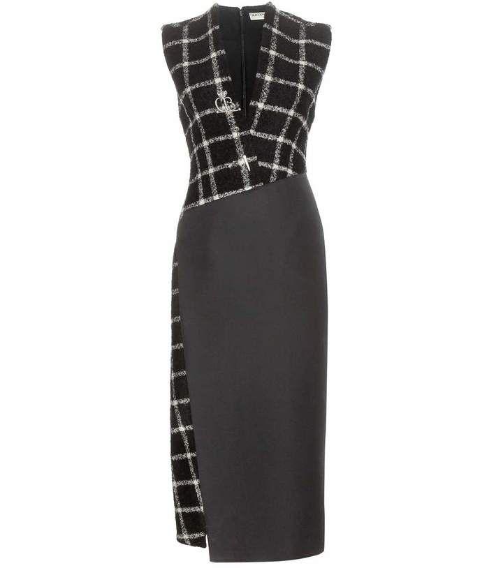 Balenciaga Embellished check dress