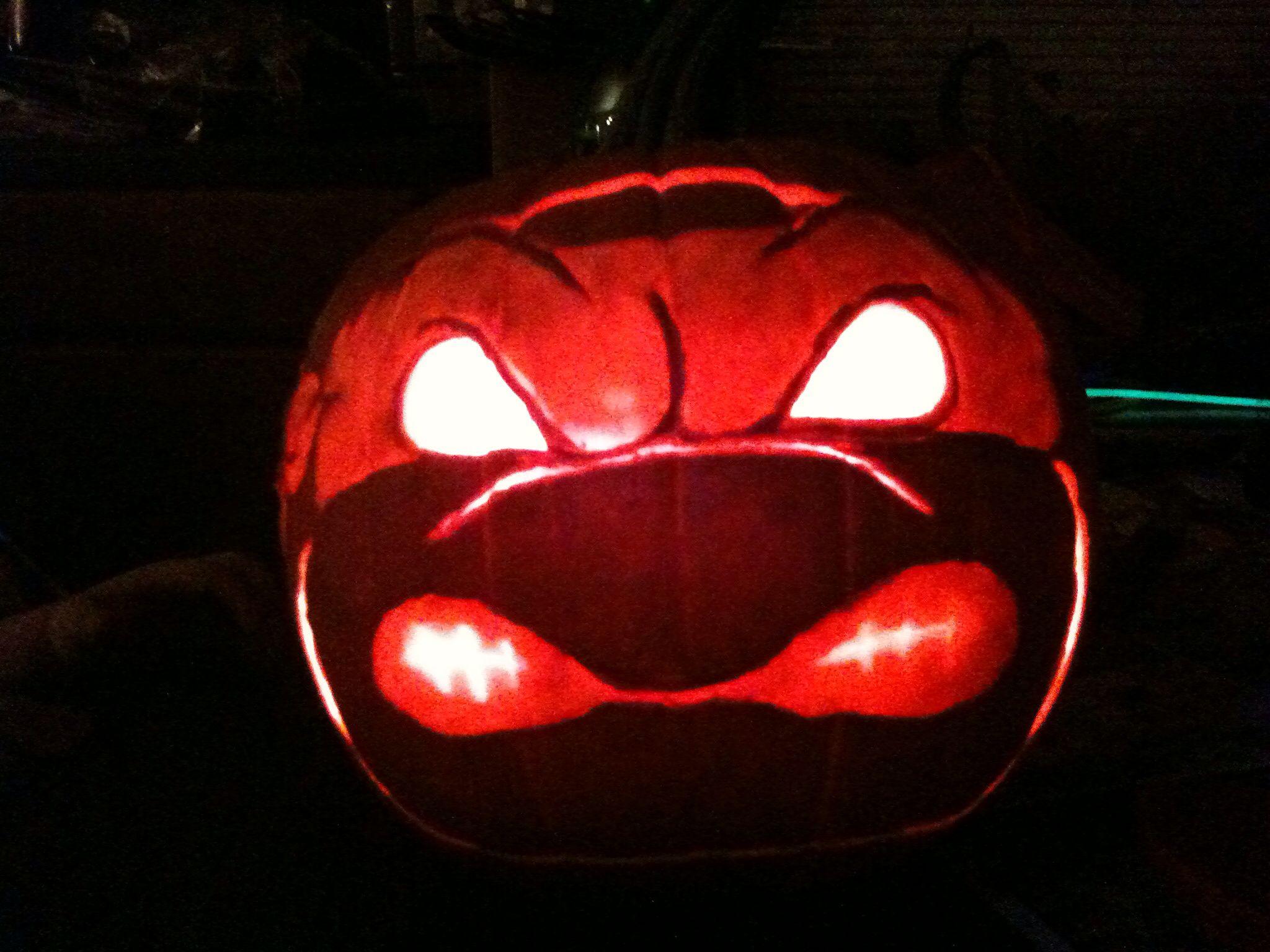 Tmnt Ninja Turtle Pumpkin 102012 By Kd Aiardo My Artwork