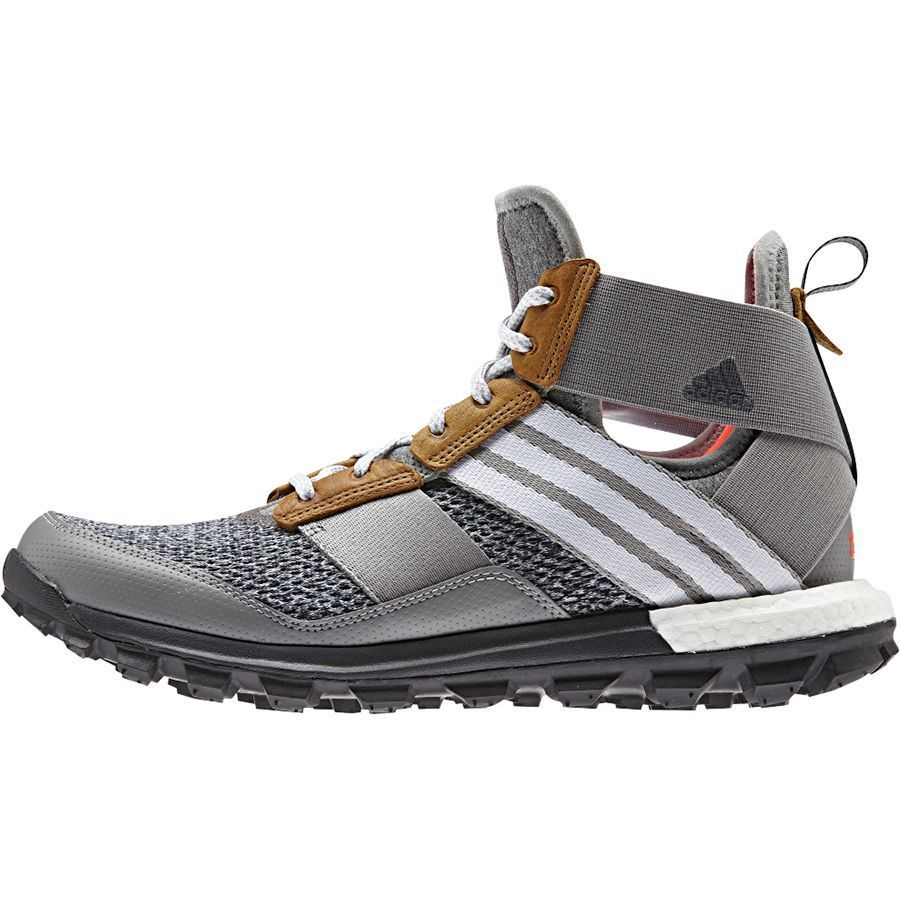 sale retailer 2bb9d f8b5f Adidas Outdoor Response Boost Trail Running Boot - Men s Heather White Solar  Red  trailrunningshoes