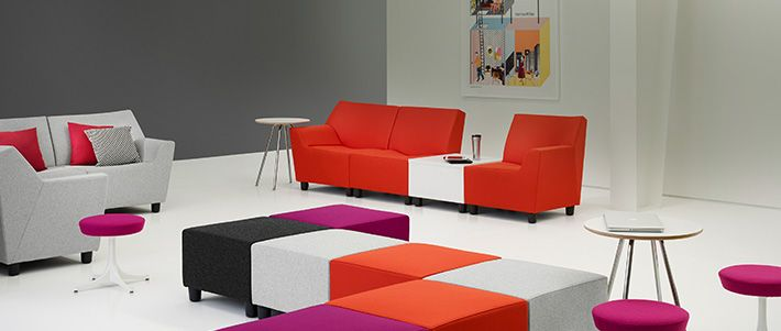 Swoop Lounge Furniture    Cube Seating System For Kids Area