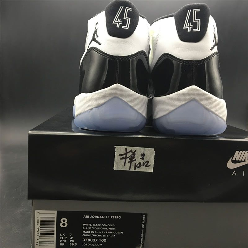 950b8b382195 Air Jordan 11  Concord  High OG 2018 Feature  45  Release Date 378037