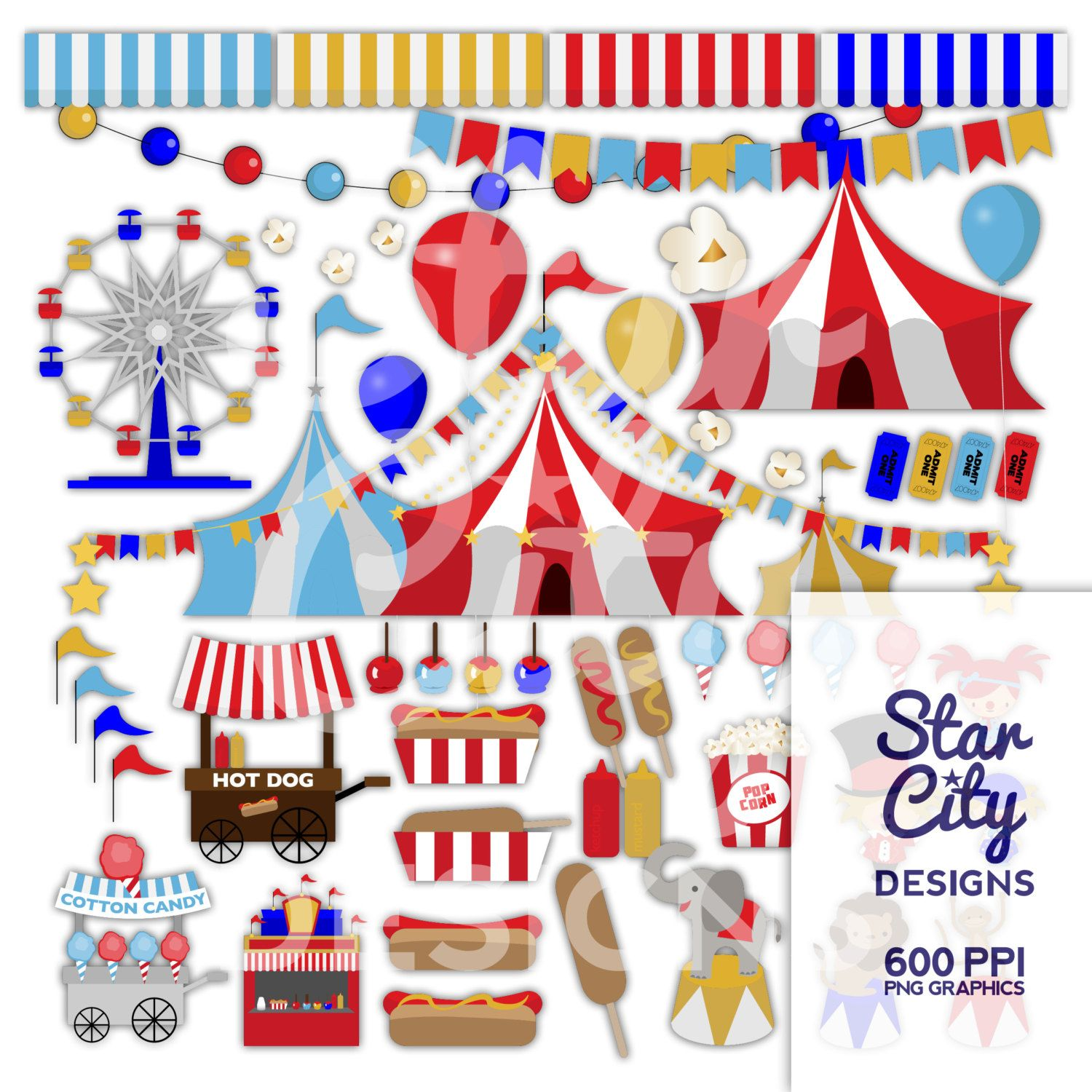 circus clipart carnival clipart big top clipart cotton candy clipart clipart clip art vector art vector graphics instant download pinned by  [ 1500 x 1500 Pixel ]