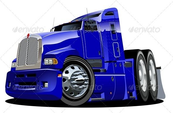 Cartoon Semi Truck With Images Semi Trucks Trucks Classic