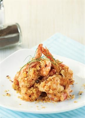 Femina Co Id Kuliner Resep Hidangan Internasional Udang Goreng Oatmeal Resep Resep Udang Resep Ikan