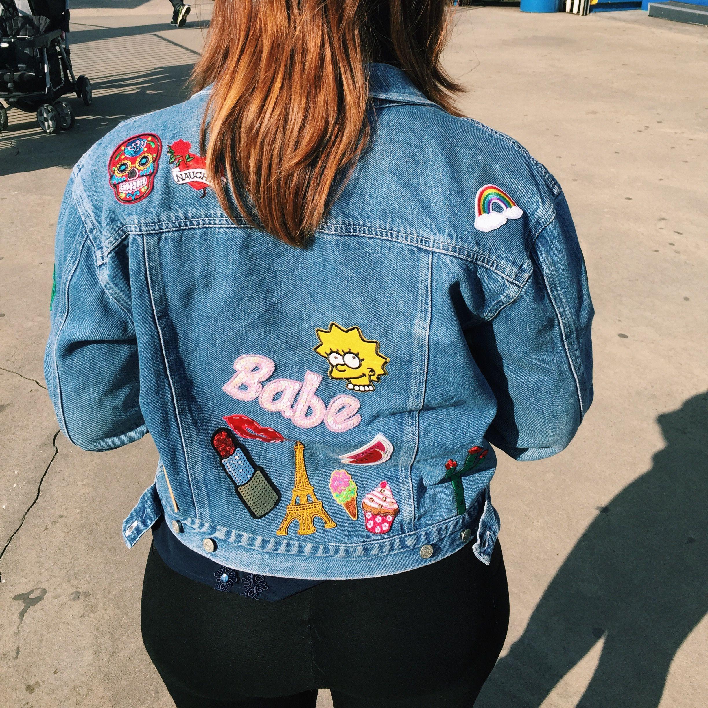 Diy Trend Patched Denim Jacket Sabor With Style Denim Jacket Patches Denim Diy Denim Jacket [ 2448 x 2448 Pixel ]