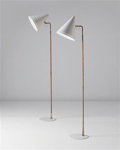 Mid Century Standard Lamp: PAAVO TYNELL Pair Of Standard Lamps, 1940s