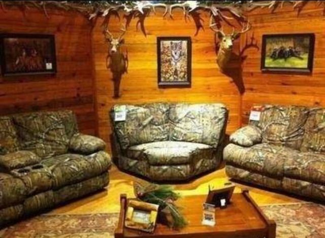 Dad S Man Cave Country Man Cave Camo Furniture Camo Living Rooms