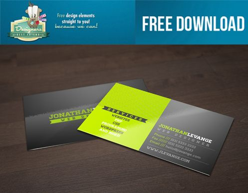 FREE Corporate Green Black Business Card Template