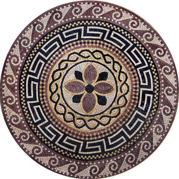Greco Roman Medallion Athena Free Mosaic Patterns