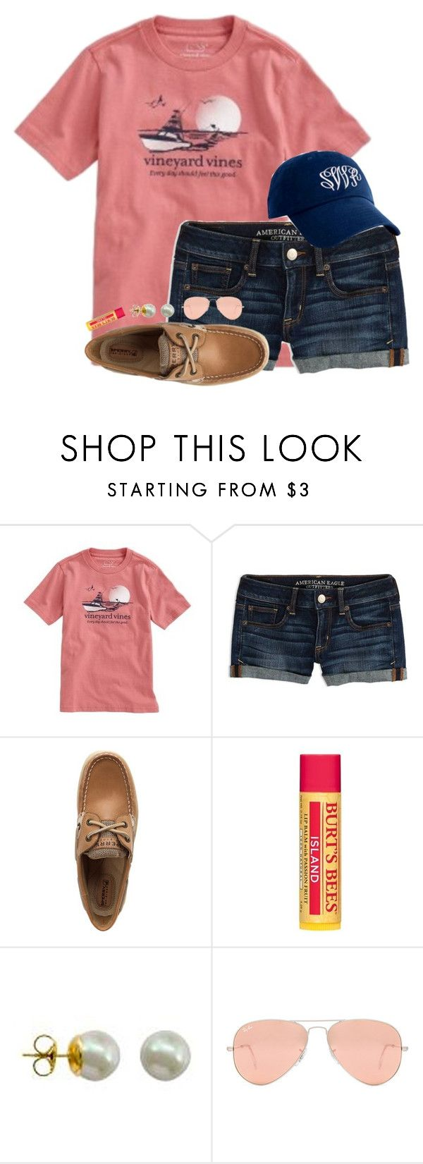 """50 likes??? Y'all can do it"" by hgw8503 ❤ liked on Polyvore featuring Vineyard Vines, American Eagle Outfitters, Sperry, Burt's Bees, Majorica and Ray-Ban"