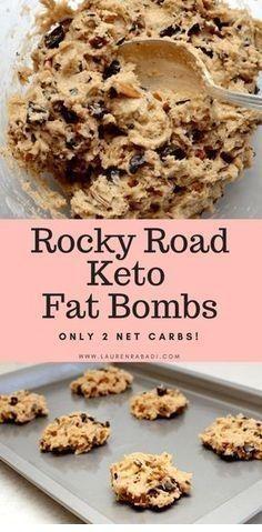Rocky Road Keto Fat Bombs By laurenrabadi.com Keto fat bombs are small treats th…