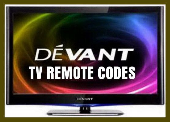 Remote Control Codes For Devant TVs | DIY - Tips Tricks Ideas Repair