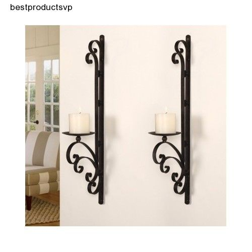 Black Wall Candle Holders ebay #wrought #iron #wall #candle #holder #decor #sconce #2 #set
