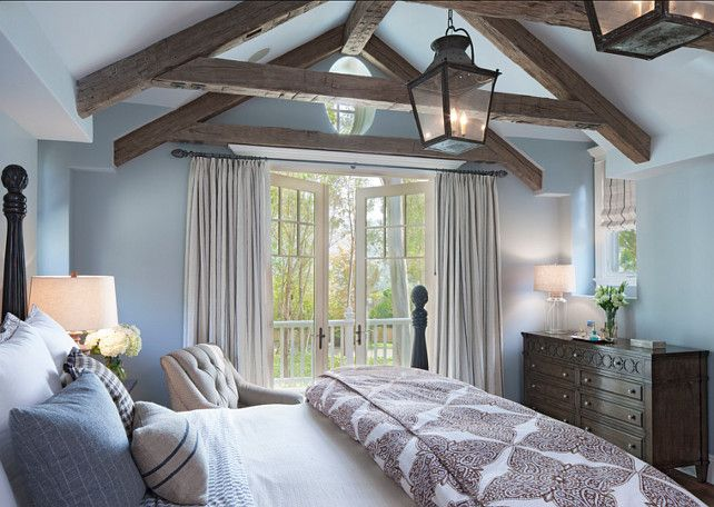 Blue Bedroom Ideas. Soothing Blue Bedroom Design. Paint Color is ...