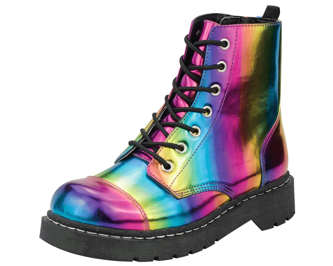 3f6344125edf6 YOWZA!!! Rainbow Combat Boots – T.U.K. Shoes   T.U.K. Shoes   Shoes ...