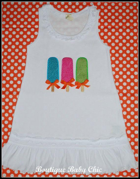 0828efdf7ca5 Toddler Dress w Popsicle Trio applique   Pink   green   by bbcnola ...